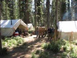 wilderness camp pack trip